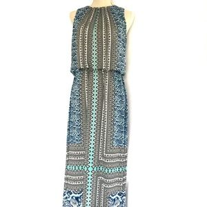 London Times Women's Sleeveless Print Maxi Dress